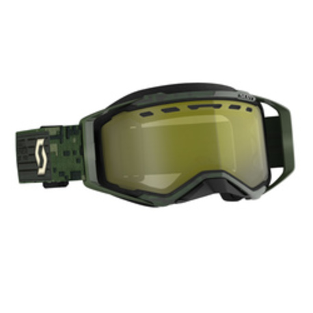 Scott Goggle Prospect Snow Cross kaki green enhancer yellow chrome